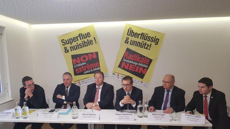 Pour le comité valaisan du non, l'initiative contre le mitage nuit aux particuliers, aux entreprises et aux communes