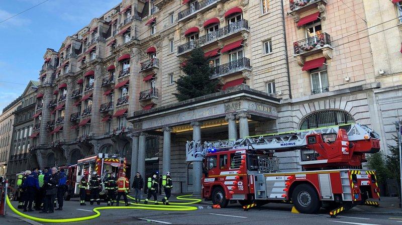 Le Lausanne Palace en proie à un incendie