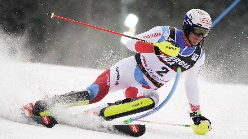 Ski alpin: les Suisses en retrait après la 1re manche du slalom de Zagreb, Schwarz en tête