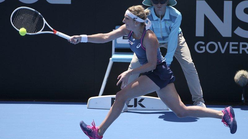 A Sydney, Timea Bacsinszky a battu 5-7 6-4 6-3 Samantha Stosur (WTA 73) après un marathon de 2h.30'.