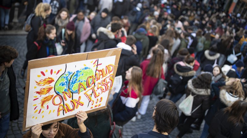 A Lausanne comme dans d'autres villes suisses, les jeunes se mobilisent pour la planète.