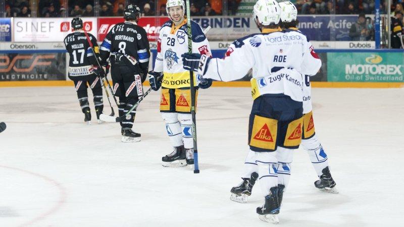 La joie de l'attaquant zougois Yannick-Lennart Albrecht.