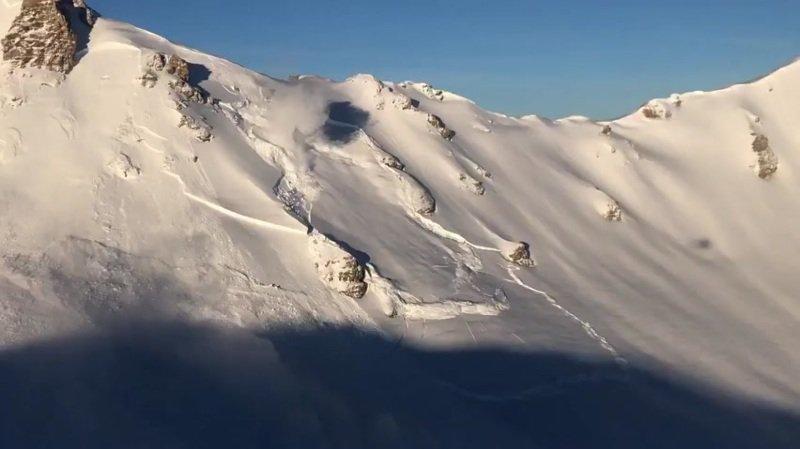 La vidéo de l'avalanche déclenchée par hélicoptère le 15 janvier dernier à Grimentz a été largement partagée sur les réseaux sociaux.