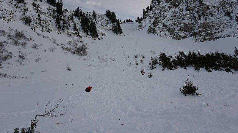 L'avalanche s'est déclenchée au passage des randonneurs.