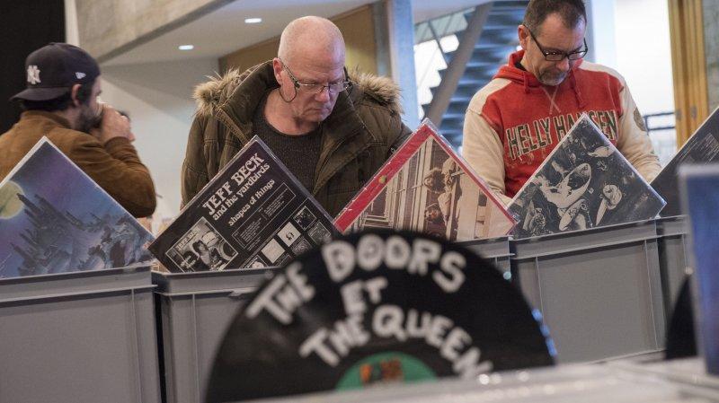 Avec 45'000 disques et CDs proposés, les collectionneurs auront le choix.