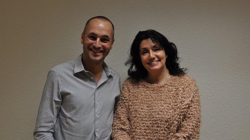Mathias Reynard et Paola Riva Gapany, les deux candidatures du PS saviésan pour les Fédérales 2019.