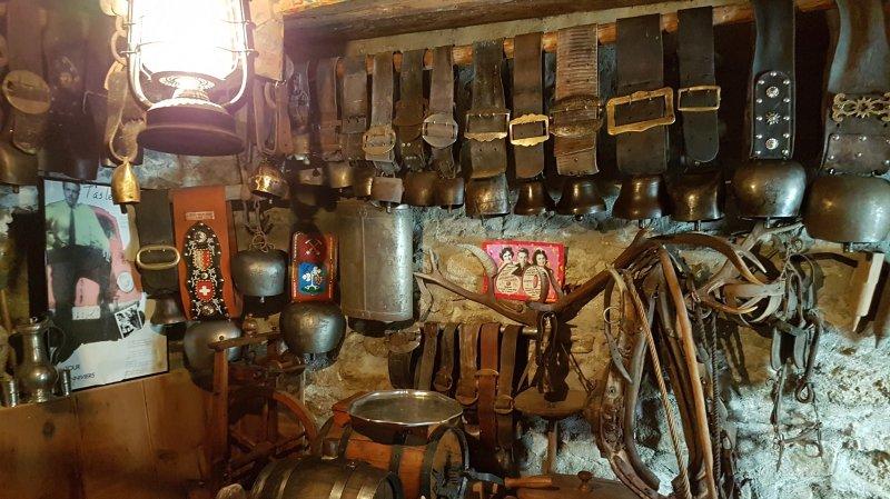 Une véritable caverne d'Ali Baba au Petit musée lucquérand, qui présente des objets de la vie traditionnelle du val d'Anniviers.