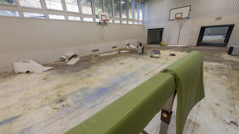Les salles de gym touchées par le violent orage du mois d'août à Sion ont été entièrement assainies.