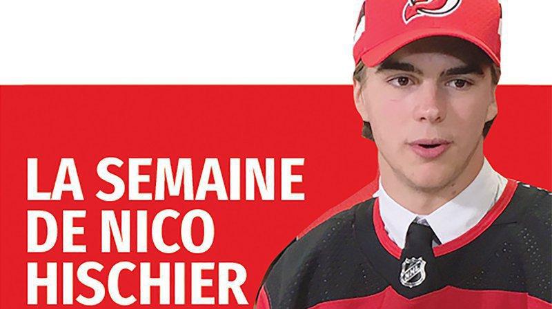 Retrouvez la semaine de l'attaquant valaisan de NHL Nico Hischier