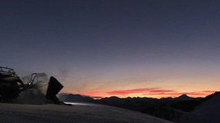 Vaud: reportage dans une dameuse sur les pistes de ski de Villars-Gryon-Les Diablerets