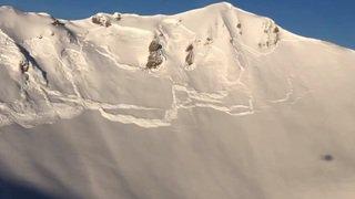 Sécurité: une avalanche monstre déclenchée à Grimentz