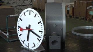 L'horloge des gares CFF fête son anniversaire