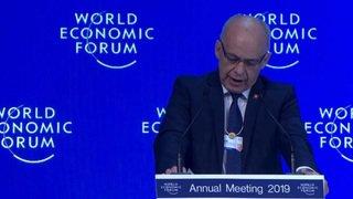 WEF: Ueli Maurer fait l'éloge des valeurs suisses au Forum de Davos