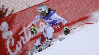 Ski alpin: Corinne Suter à un centième du podium de la descente de Cortina d'Ampezzo, l'Autrichienne Siebenhofer s'impose