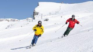 Crans-Montana: aveugles ou malvoyants, ils goûtent eux aussi aux émotions du ski