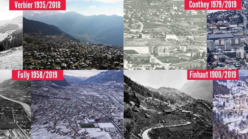 Le Valais s'est beaucoup construit, en plaine et en montagne.