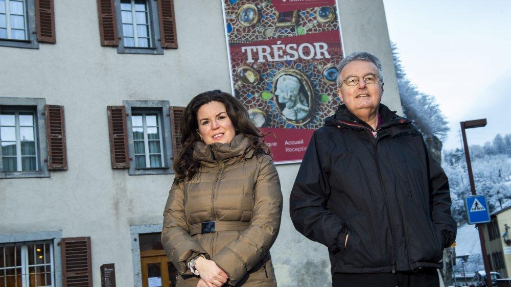 Jennifer Genovese, directrice du trésor, et Olivier Roduit, procureur de l'abbaye, misent beaucoup sur 2019 pour attirer des visiteurs à l'abbaye.