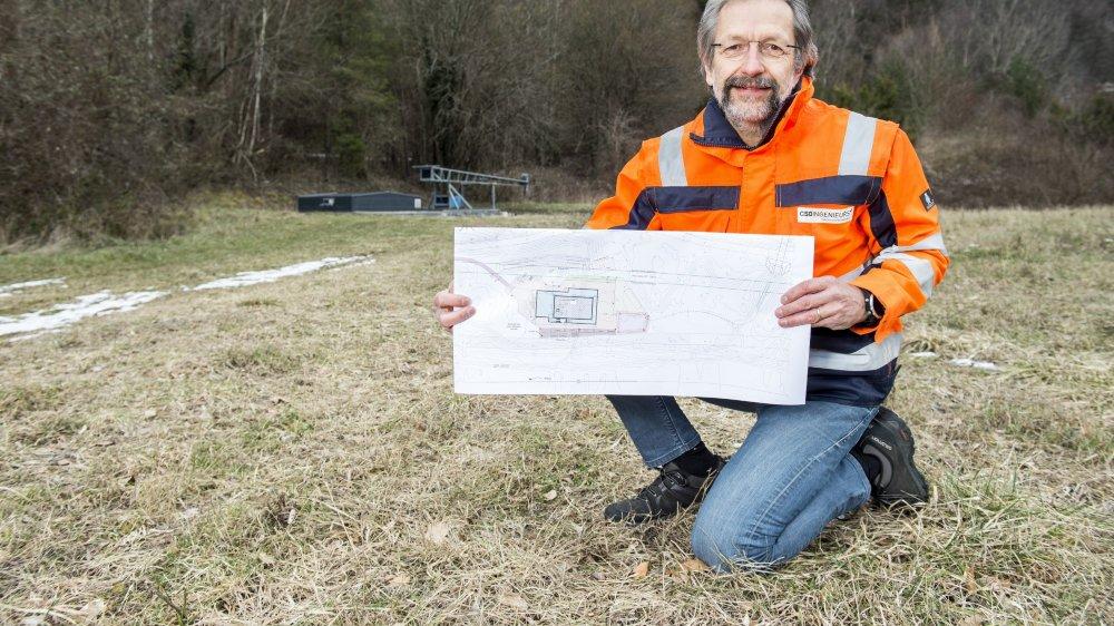 Jean-Marc Lavanchy, hydrogéologue-expert, se veut rassurant sur le site de la mise à l'enquête du projet de géothermie à Lavey-les-Bains.