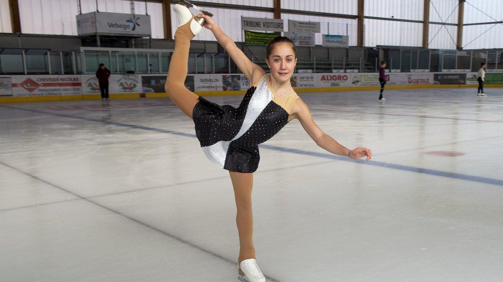 Tous les midis, Oxana Vouillamoz se rend à la patinoire de l'Ancien Stand à Sion pour une demi-heure d'entraînement.