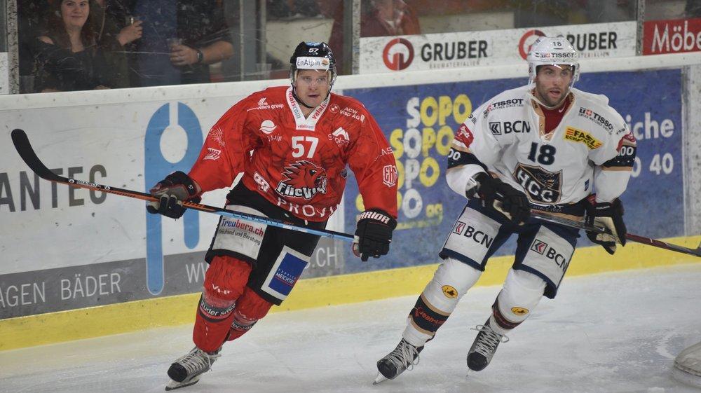 Andy Furrer et Alain Miéville. Viège et La Chaux-de-Fonds ne sont séparés que par quatre points après 39 matchs.