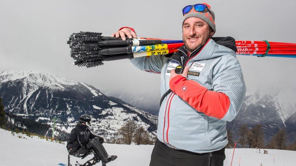 Grégory Chambaz entraînait les jeunes de Ski Valais avant de prendre la responsabilité de l'équipe nationale de ski-handicap.