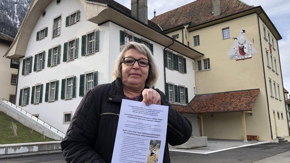 Joëlle Chaperon, conseillère communale, a signé un tract qui s'oppose à la municipalité.