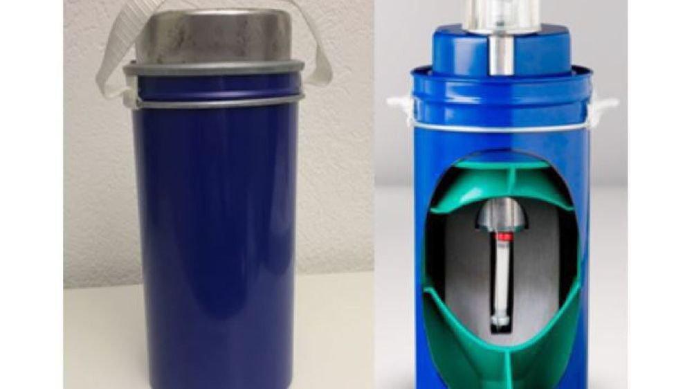 Le cylindre contenait un générateur utilisé en médecine nucléaire.