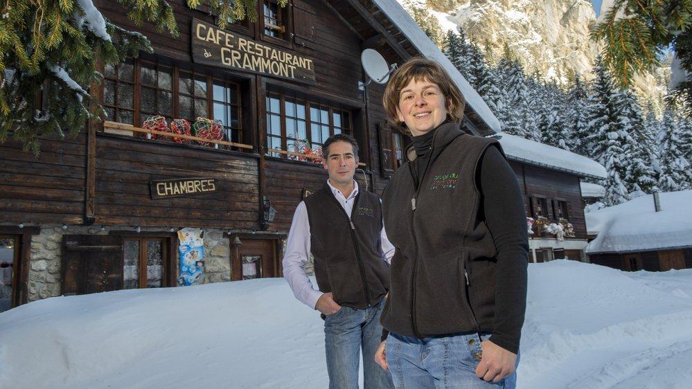 Raphaëlle Hermann et Manuel Micoli, tenanciers du refuge du Grammont, ont été soutenus par l'Aide suisse aux montagnards.