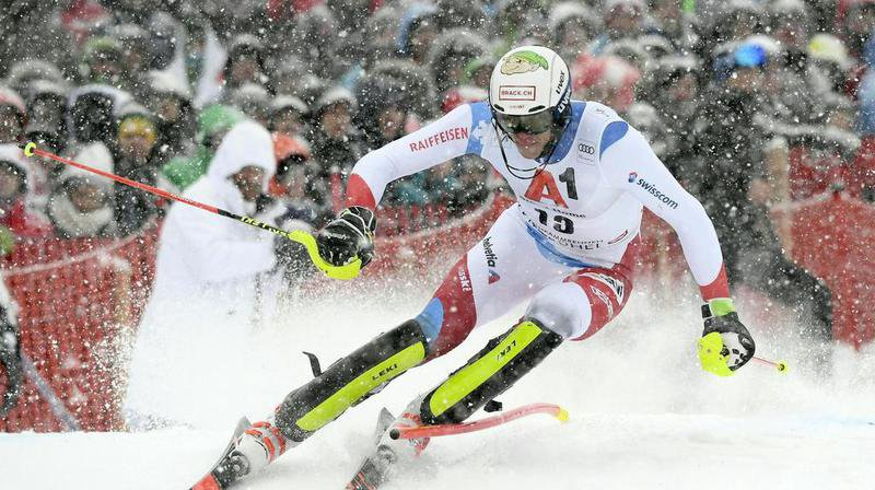 Ski alpin: Ramon Zenhäusern en tête après la 1ère manche du slalom de Kitzbühel