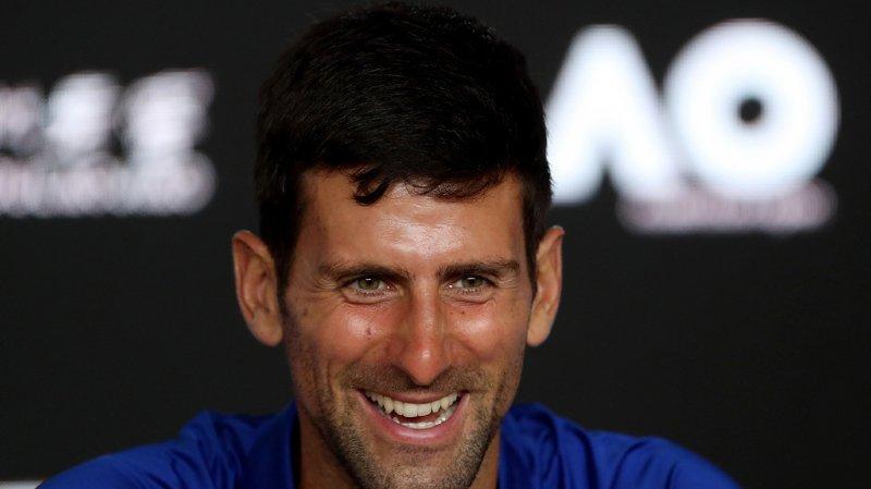 Novak Djokovic a déclenché l'hilarité générale en imitant un journaliste italien en conférence de presse.