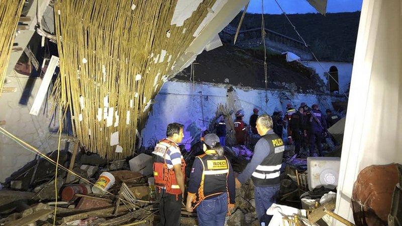 Pérou: un torrent de boue fait au moins quinze morts dans un hôtel