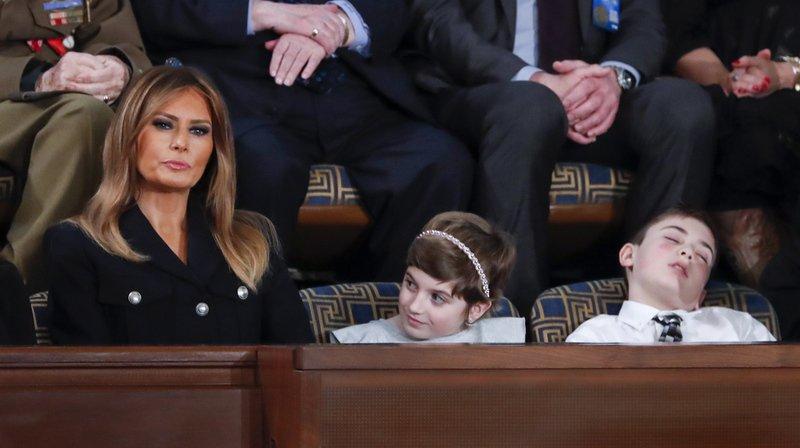 Etats-Unis: un garçon s'endort durant le discours de Donald Trump et devient un symbole sur le web