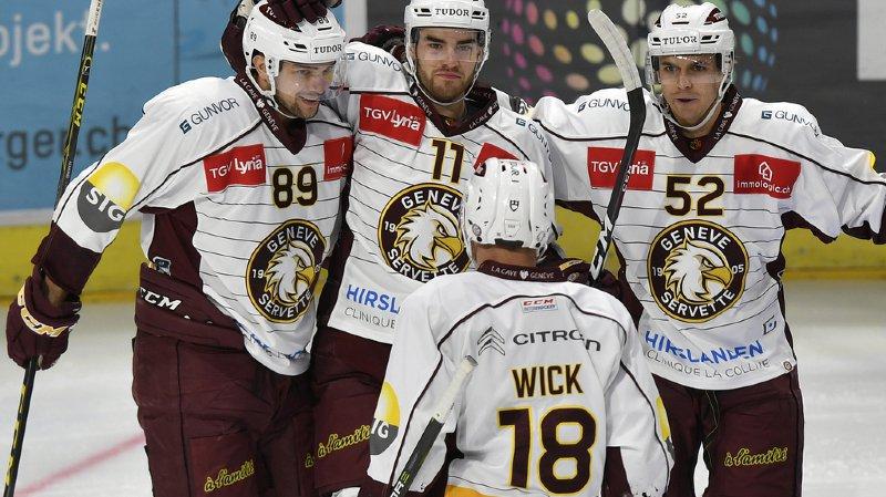 Hockey: Servette s'impose 4-1 à Zurich et se relance dans la course aux play-off