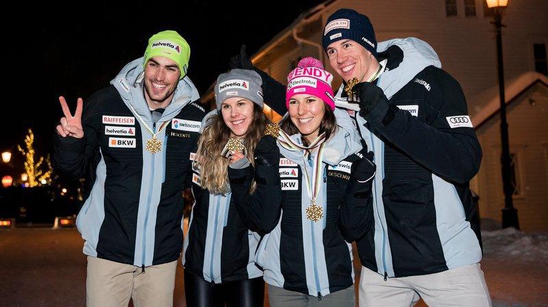 Ski alpin: la Suisse championne du monde du Team Event