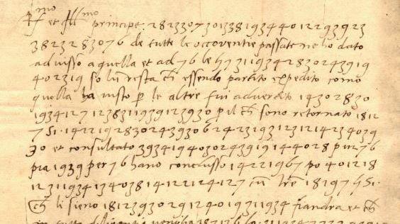 La fameuse lettre codée reçue par Mathieu Schiner.