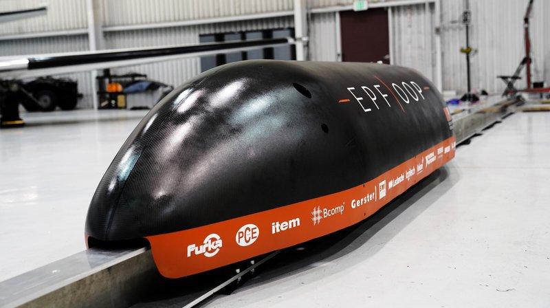 L'EPFL présente sa capsule hyperloop à Crans-Montana