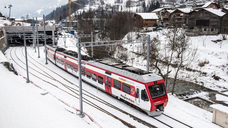 Nouvelle gare ferroviaire du Châble: une première en Suisse