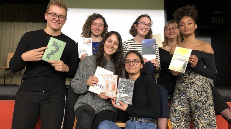 7 des 72 élèves de l'ECCG de Monthey présentent les œuvres retenues pour le Roman des Romands.