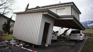 """La tempête """"Uwe"""" qui a balayé la Suisse a causé des dégâts importants"""