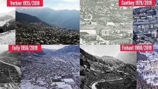 L'évolution du territoire valaisan en quatre exemples