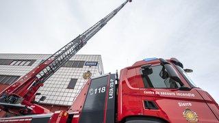 Sierre: les pompiers ont fait l'acquisition du plus imposant camion échelle du canton