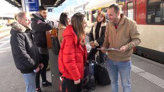 Valais: après 52 heures de train, six étudiants sont de retour de Stockholm avec leur pétition en faveur du climat