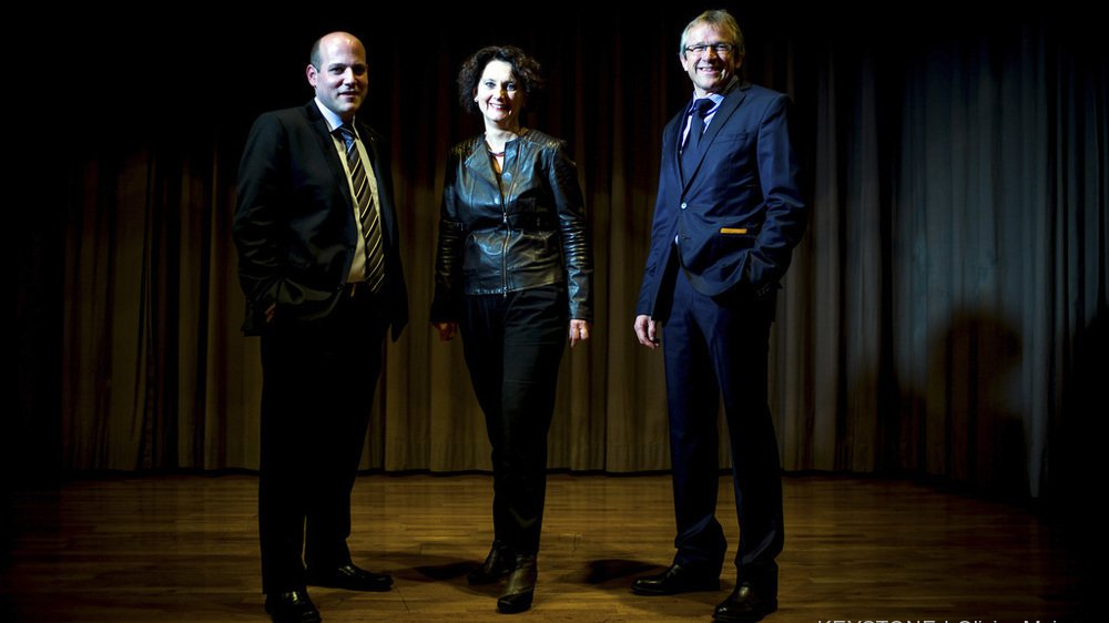 Serge Métrailler, président du PDCVr, Marianne Maret, vice-présidente, et Benjamin Roduit, ancien vice-président et unique sortant, sont tous trois en lice pour les fédérales.