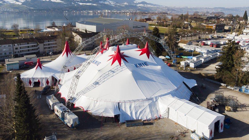 Cirque Knie: le nouveau chapiteau est prêt à accueillir 2340 spectateurs