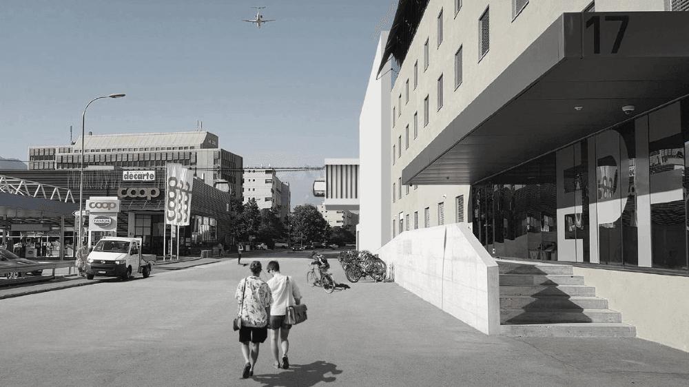 La gare de départ serait située à la Rue de l'industrie, au Sud de la gare de Sion.