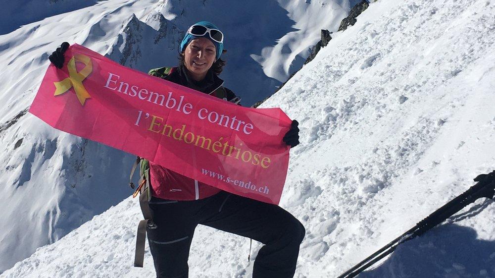 Malgré sa maladie très handicapante, Nathalie Reuse (41 ans) compte déjà dix-sept 4000 à son actif.