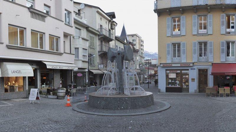 La place Tübingen à Monthey rend hommage à la ville jumelée.