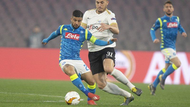 Football - Europa League: pas de miracle pour le FC Zurich, battu 2-0 à Naples