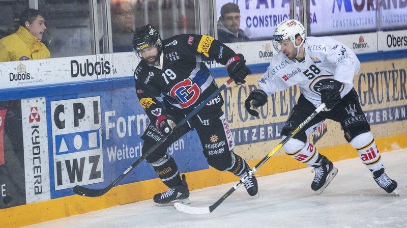 Hockey: Gottéron perd contre Lugano et repasse sous la barre, Servette s'incline contre Berne