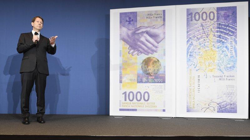 Le nouveau billet de 1000 francs a été dévoilé